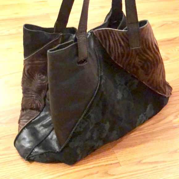 Mitzi Baker Handbags - Large Leather Patchwork Mitzi Baker Tote